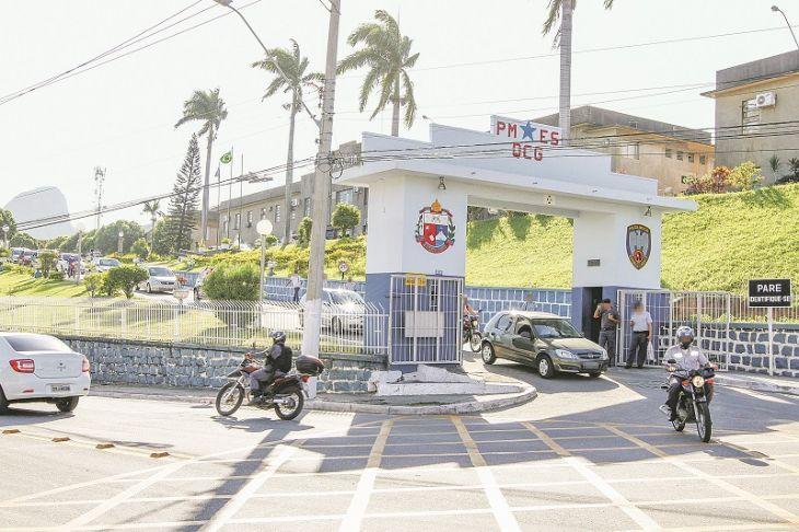 Quartel do Comando-geral da Polícia Militar em Maruípe, Vitória: corregedoria recebe denúncias há 15 anos. (Foto: Tiago Coutinho/AT)