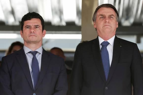 Recentes declarações de Bolsonaro desgastaram sua relação com o ministro Sergio Moro (Marcos Correa/PR/AP)