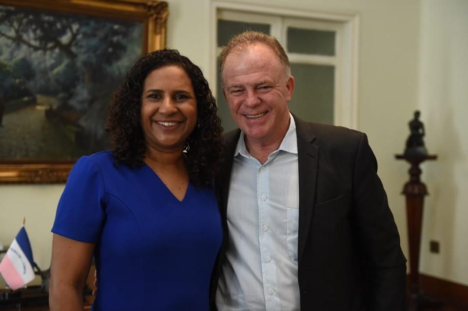Governador do Estado, Renato Casagrande e a vice-governadora Jaqueline Moraes, no Palácio Anchieta -Foto Reprodução