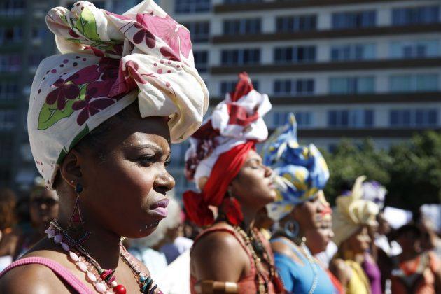 Mulheres negras representando o Dia da Consciência Negra. - Foto: Tânia Rêgo/Agência Brasil)