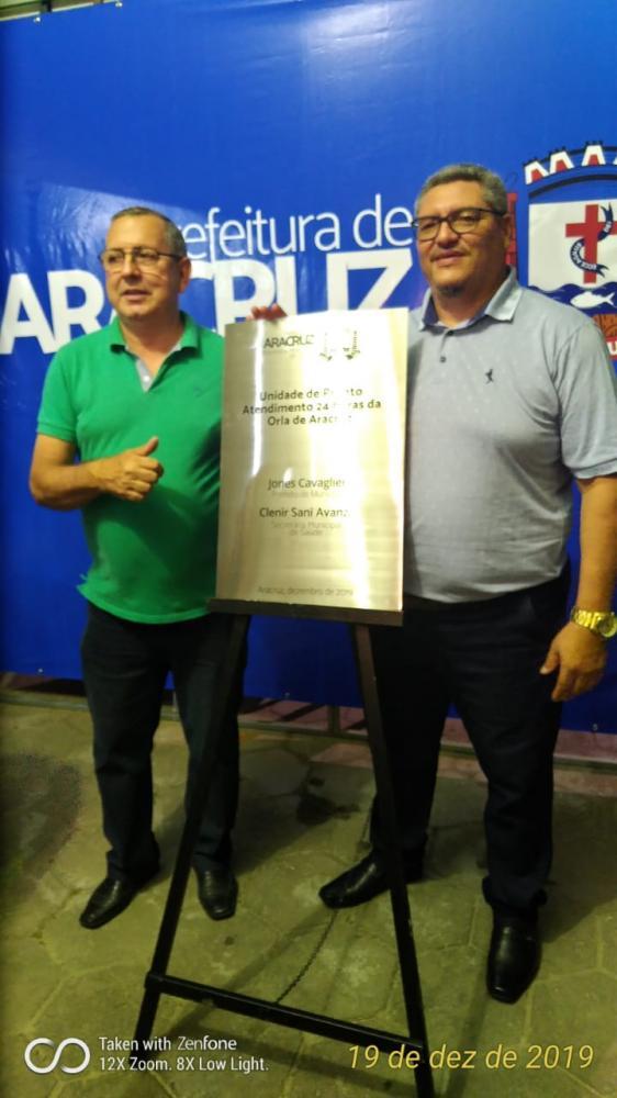 Líder Comunitário Jorge Pereira e o Presidente da Câmara, Paulo Flávio - Foto Reprodução