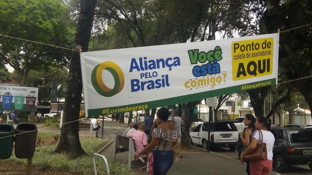 Campanha de Coleta de assinaturas para criação do Aliança pelo Brasil