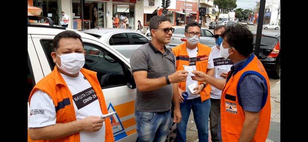 Aracruz - Defesa Civil participa de ação de prevenção a COVID 19