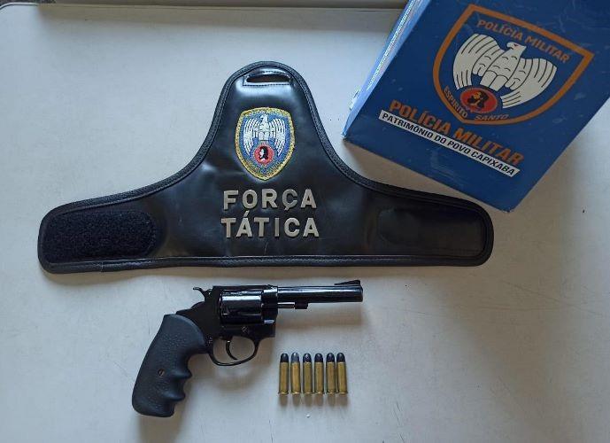 Aracruz - Poliícia apreende arma e detém jovem