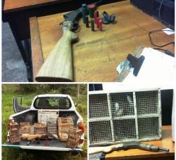 Ibiraçu - Homem é detido com arma e pássaros em cativeiro