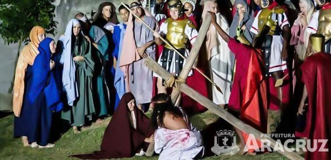 Aracruz -Teatro Sacro da Paixão de Cristo acontece nesta sexta em Guaraná