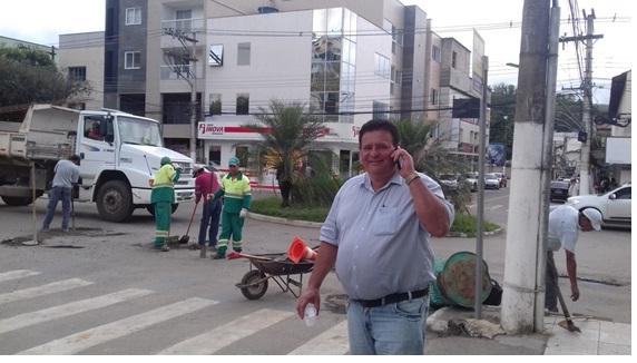 João Neiva - Iniciada operação tapa buraco em ruas da cidade