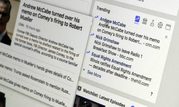 Imagem da página do Facebook mostra a área da rede social dedicada à exibição das notícias mais populares no serviço, que será removida a partir da semana que vem numa tentativa de levar os usuários a buscarem por si mesmos fontes mais confiáveis de informação AP/RICHARD DREW