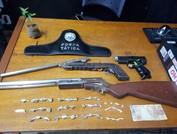 Aracruz e João Neiva polícia apreende drogas e armas