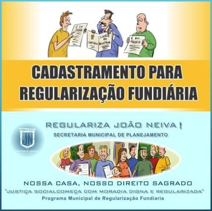 PREFEITURA REALIZA CADASTRAMENTO PARA PROJETO DE REGULARIZAÇÃO FUNDIÁRIA (ESCRITURAS) DOS BAIRROS ALVORADA, CRUBIXÁ, CRUZEIRO E SÃO CARLOS II, ATÉ 31 DE AGOSTO.