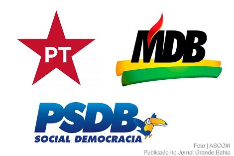 Descolados dos presidenciáveis, MDB e PSDB lideram disputa nos estados