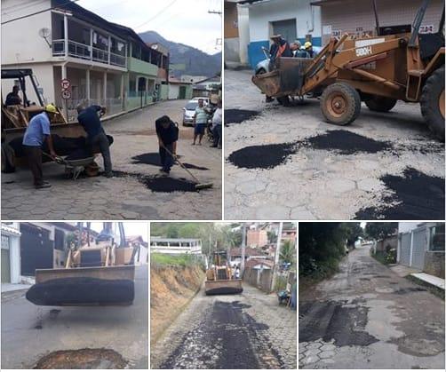 João Neiva - Prefeitura realiza operação tapa-buracos em bairros da cidade