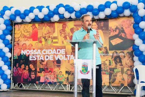 Linhares - Prefeito Guerino concede abono para servidores e anuncia reajustes no salário e tíquete alimentação