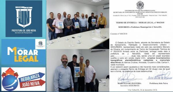 JOÃO NEIVA - Município é destaque na Regularização Fundiária no ES