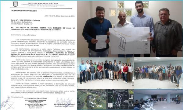 JOÃO NEIVA - Busca captação de recursos federais para pavimentação Centro Industrial