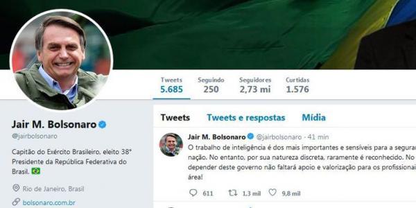Bolsonaro garante apoio a profissionais da área de inteligência