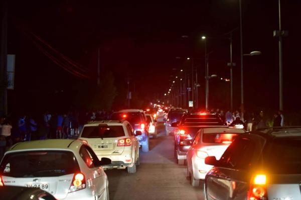 Inicialmente, foi dada ordem de evacuar a área, que foi cancelada depois - Reuters/Alejandro Pizarro/Direitos Reservados