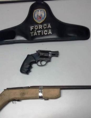 Aracruz - Polícia apreende armas de fogo