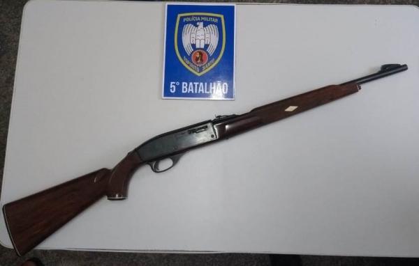 João Neiva - Polícia apreende arma de fogo