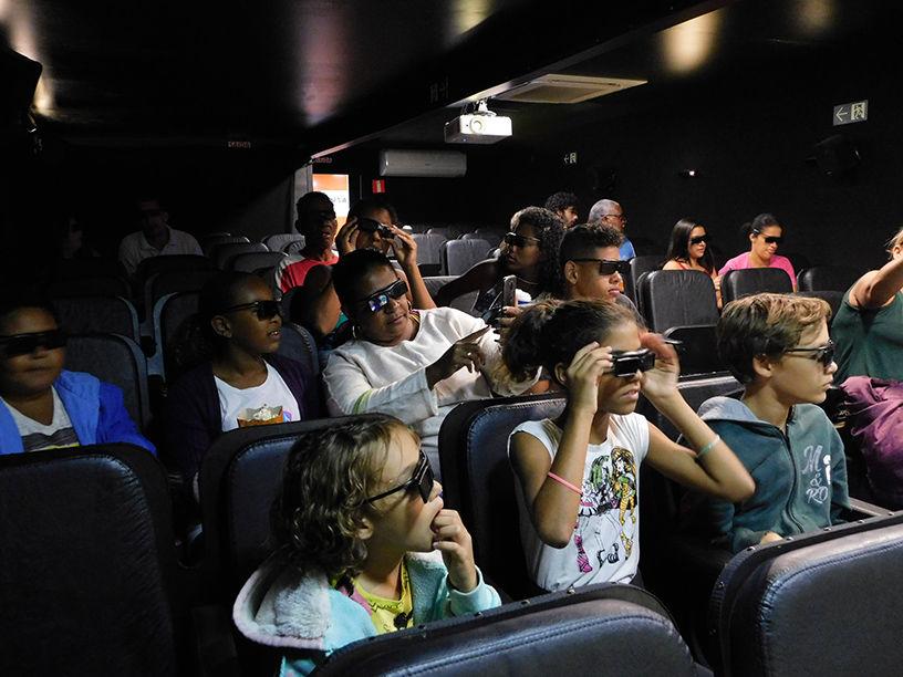 A estrutura conta com espaço para 78 espectadores por sessão | Foto: Divulgação