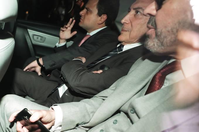 O ex-presidente Michel Temer é preso pela Polícia Federal em São Paulo (SP) - 09/05/2019  (André Penner/AP)